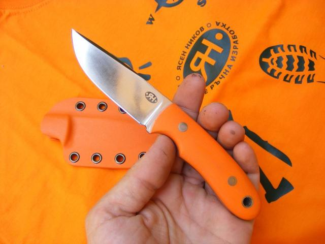 Orange EDC in hand